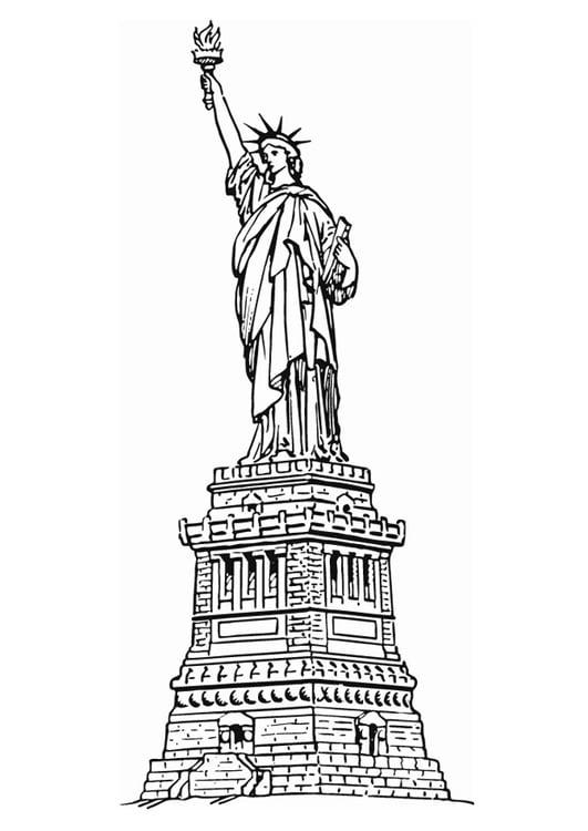 Malvorlage Freiheitsstatue New York | Ausmalbild 13078.