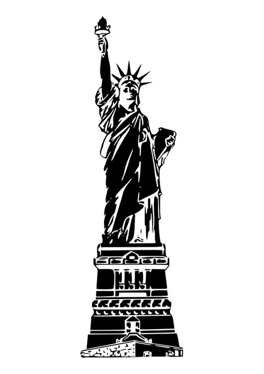 Malvorlage Freiheitsstatue USA   Ausmalbild 26266.