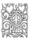 Malvorlage  Frieden