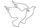 Malvorlage  Friedenstauben