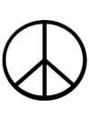 Malvorlage  Friedenszeichen