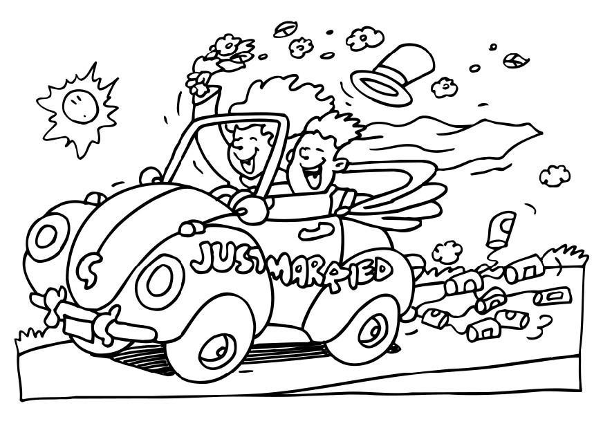 free coloring pages for wedding - photo#32