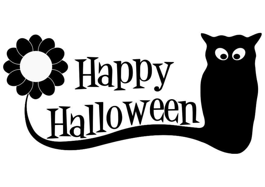 Malvorlage Fröhliches Halloween | Ausmalbild 19721.
