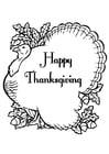 Malvorlage  fröhliches Thanksgiving