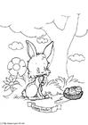 Malvorlage  Frohe Ostern