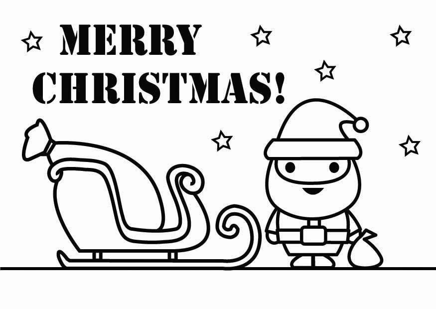 Kleurplaten Nieuwjaar Kerst Malvorlage Frohe Weihnachten Ausmalbild 26431
