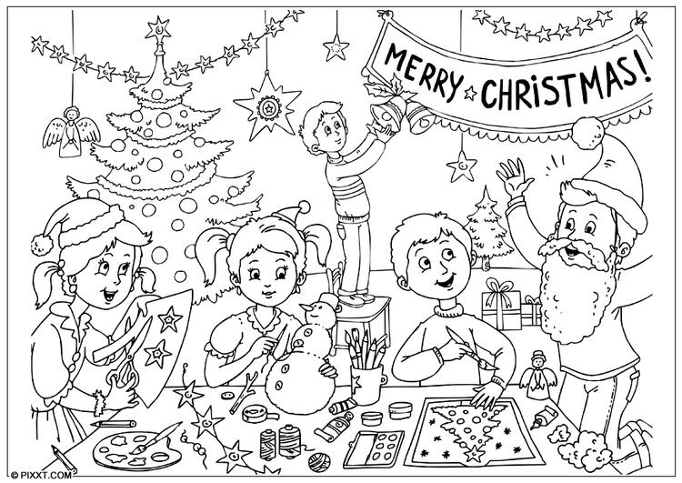 malvorlage weihnachten zum ausdrucken