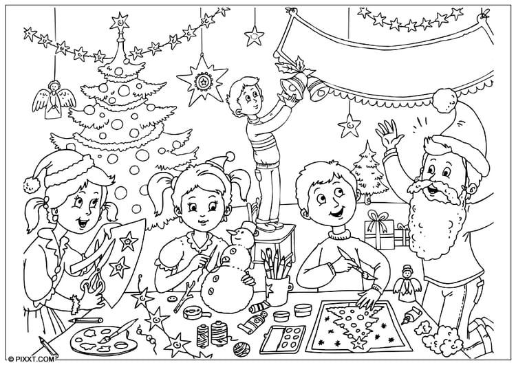 Malvorlage Frohe Weihnachten Ausmalbild 28186