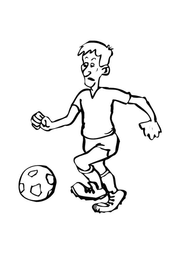 malvorlage fussball  kostenlose ausmalbilder zum