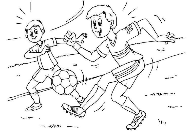 Malvorlage Fussball Ausmalbild 25983