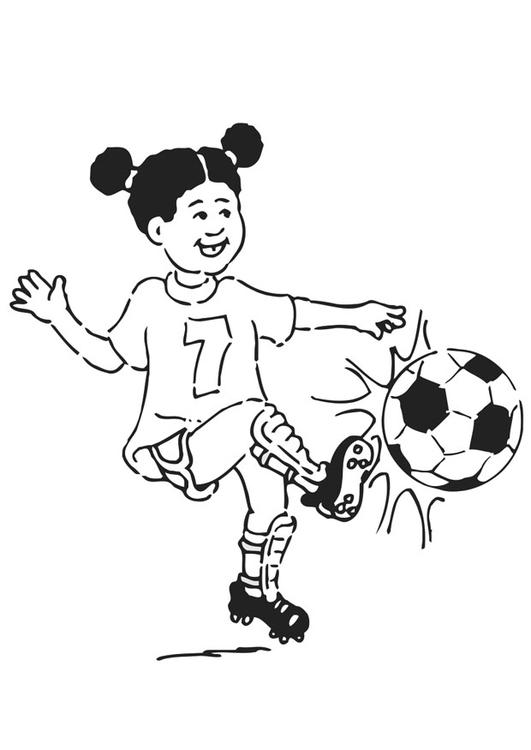 Malvorlage Fussball Spielen Ausmalbild 20941
