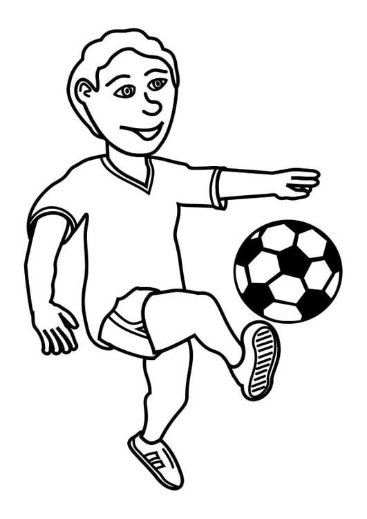 Malvorlage Fussball spielen | Ausmalbild 27619.