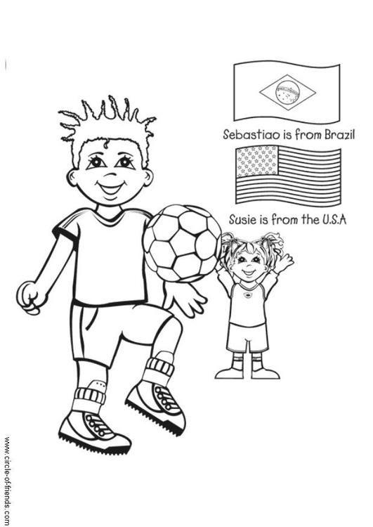 malvorlage fussball spielen  kostenlose ausmalbilder zum
