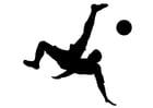 Malvorlage  Fußball spielen