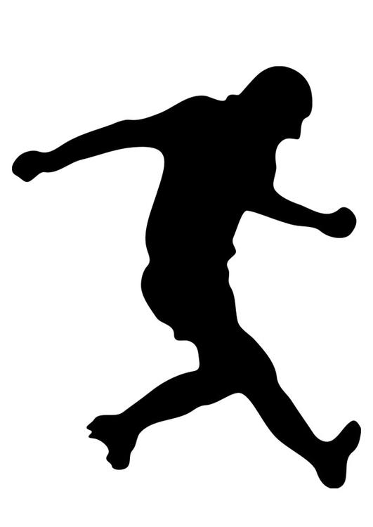 Malvorlage Fussballspieler | Ausmalbild 19249.