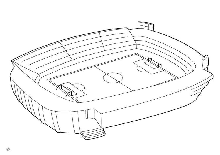 Malvorlage Fussballstadion | Ausmalbild 26143.