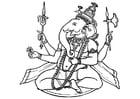 Malvorlage  Ganesha