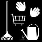 Malvorlage  Garten - Gartenarbeit