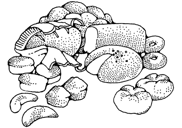 Malvorlage Gebäck | Ausmalbild 17334.