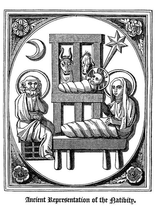 Malvorlage Geburt Jesu Ausmalbild 20493