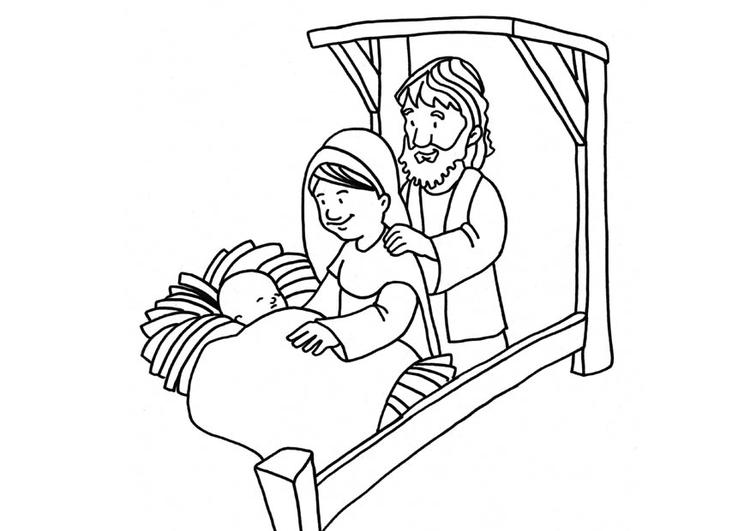 malvorlage geburt jesus  kostenlose ausmalbilder zum