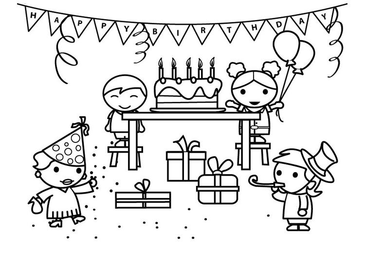 Malvorlage Geburtstag Kostenlose Ausmalbilder Zum Ausdrucken