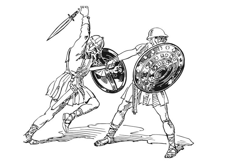 Malvorlage Gefecht Ausmalbild 13227