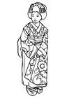 Malvorlage  Geisha