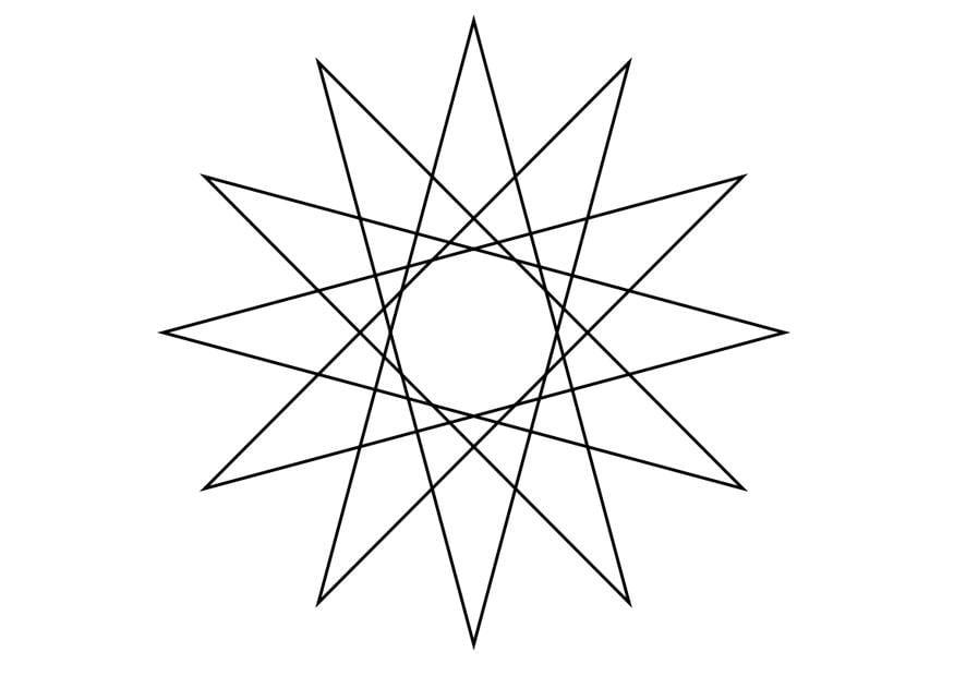 malvorlage geometrische figur  stern  kostenlose