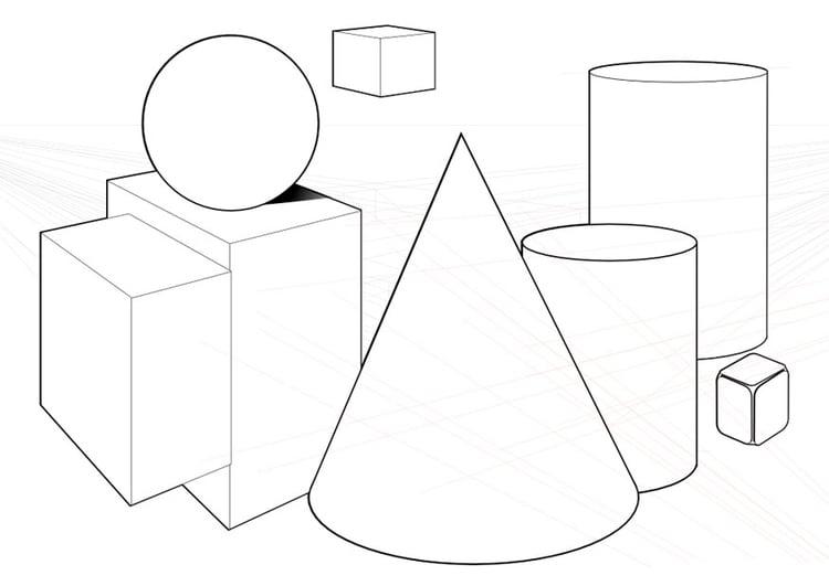 malvorlage geometrische formen ausmalbild 10040. Black Bedroom Furniture Sets. Home Design Ideas