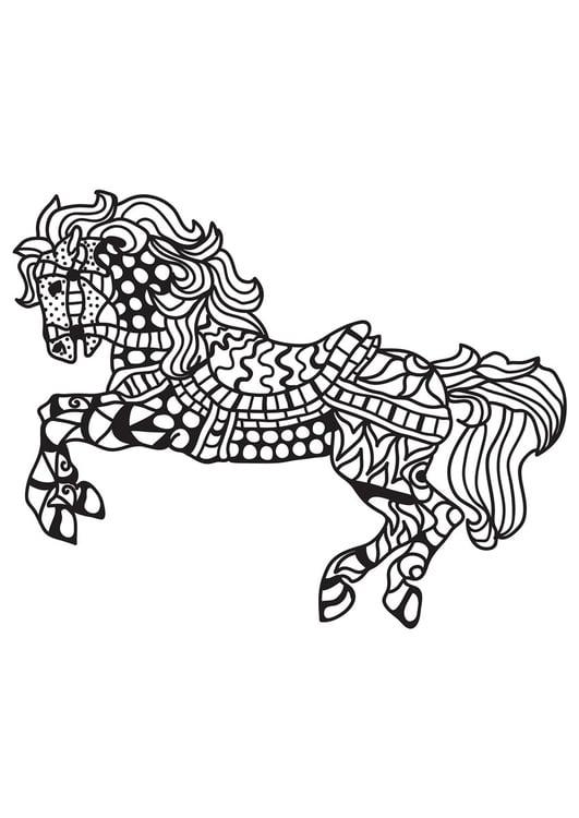 malvorlage gesatteltes pferd  kostenlose ausmalbilder zum