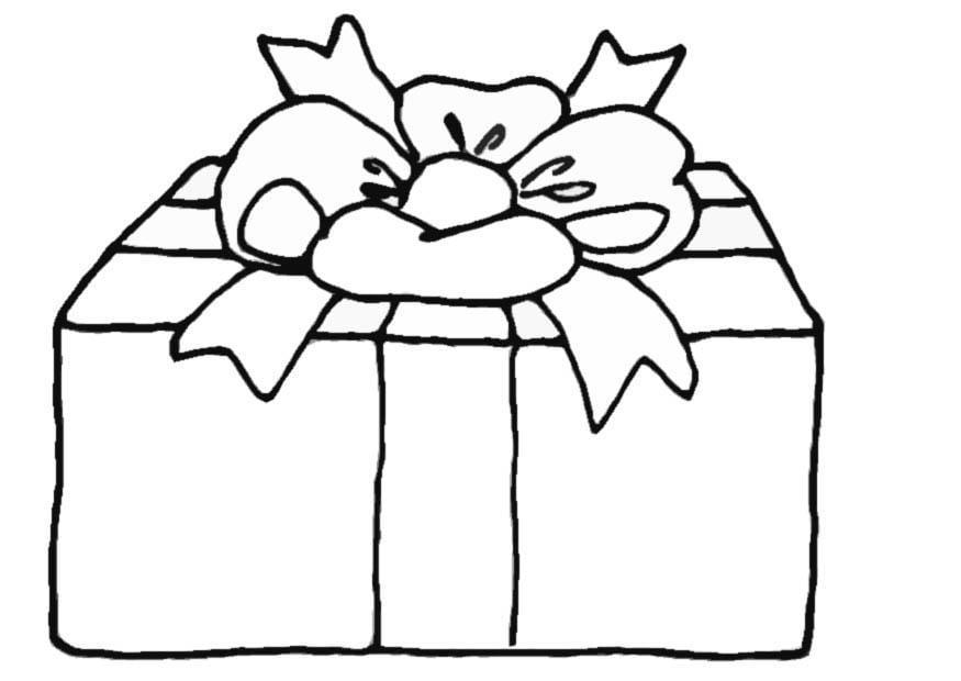 Malvorlage Geschenk Ausmalbild