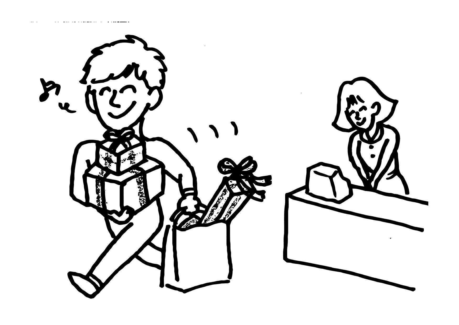 Malvorlage Geschenk | Ausmalbild 12151.