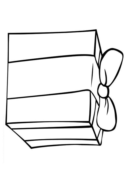 malvorlage geschenk  ausmalbild 20579