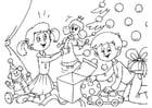 Malvorlage  Geschenke auspacken