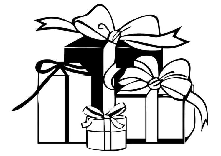 malvorlage geschenke  ausmalbild 20583