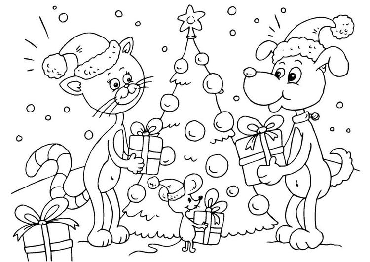malvorlage geschenke unter dem weihnachtsbaum ausmalbild 23373. Black Bedroom Furniture Sets. Home Design Ideas
