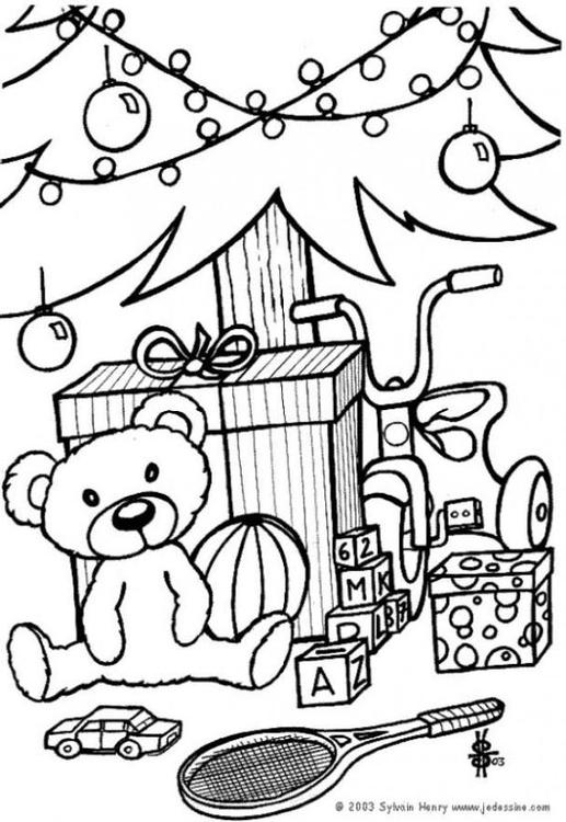 malvorlage geschenke unter dem weihnachtsbaum ausmalbild. Black Bedroom Furniture Sets. Home Design Ideas
