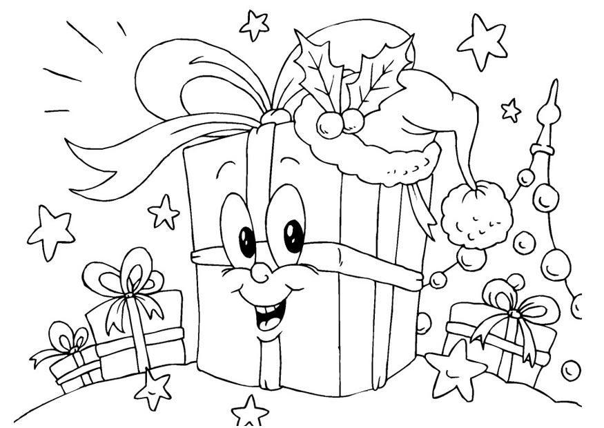 Malvorlage geschenken ausmalbild 23381 - Dibujos de navidad originales ...