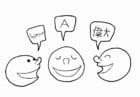 Malvorlage  Gesellschaft - Sprache