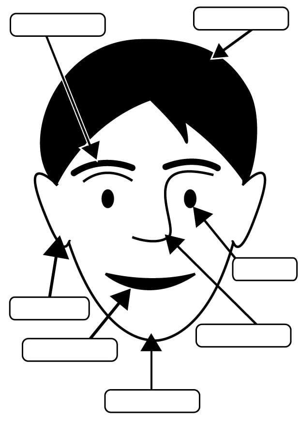 Malvorlage Gesicht | Ausmalbild 26951.
