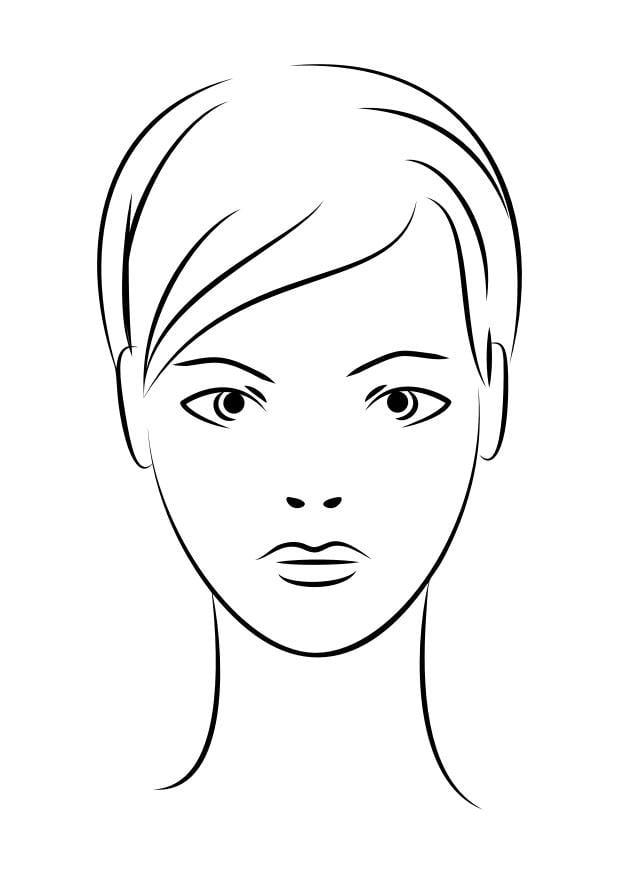 Malvorlage Gesicht | Ausmalbild 29939.