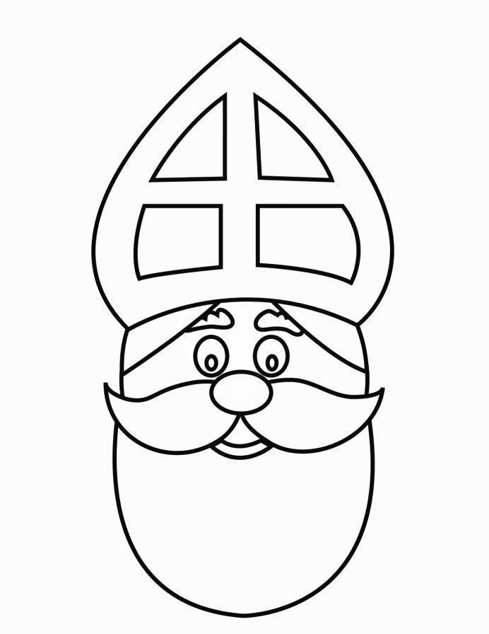 Malvorlage Gesicht vom Nikolaus | Ausmalbild 16169.
