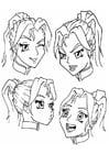Malvorlage  Gesichtsausdrücke - Emotionen