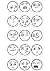 Malvorlage  Gesichtsausdrücke