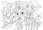 Malvorlage  Gespensterhaus