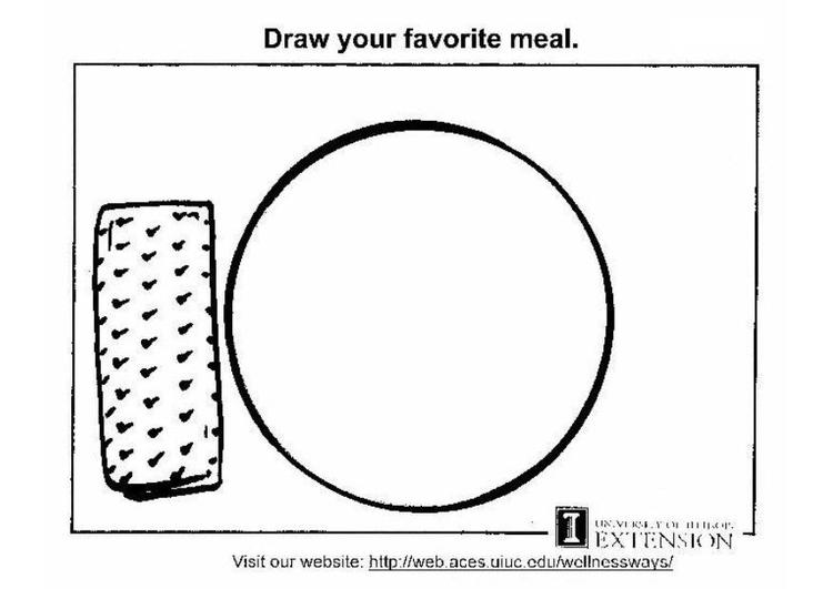 Malvorlage gesunde Nahrung Arbeitsblatt | Ausmalbild 5773.
