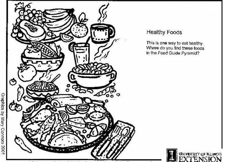 Malvorlage gesunde Nahrung | Ausmalbild 5922.
