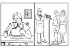 Malvorlage  Gesundheit - Ernährung