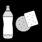 Malvorlage  Getränk und Keks